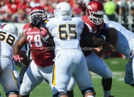 Quentin Winstine The Toledo Rockets face the Arkansas Razorbacks at War Memorial Stadium in Little Rock on Saturday, September 12, 2015.